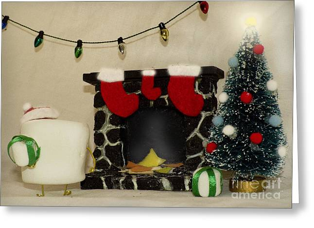 Mallow Christmas Greeting Card by Heather Applegate