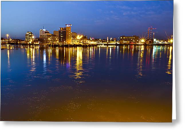 Glow Greeting Cards - Malmo By Night Greeting Card by EXparte SE