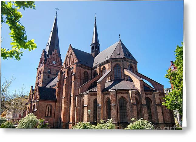 Port Town Greeting Cards - Malmo church 02 Greeting Card by Antony McAulay