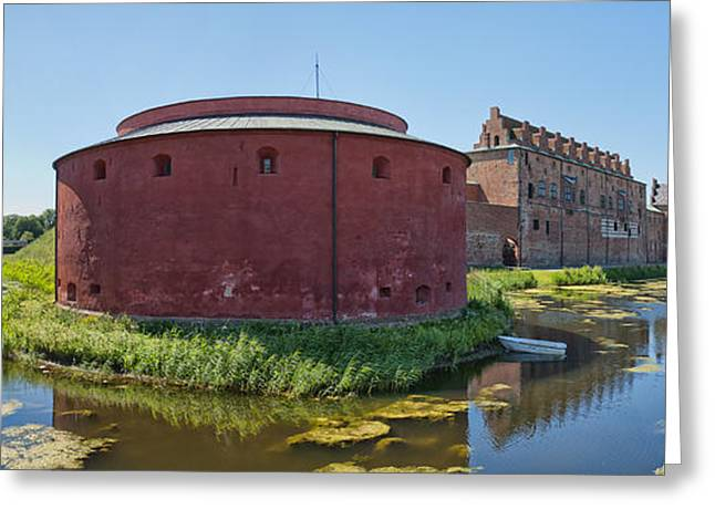 Malmo Greeting Cards - Malmohus castle panorama 01 Greeting Card by Antony McAulay