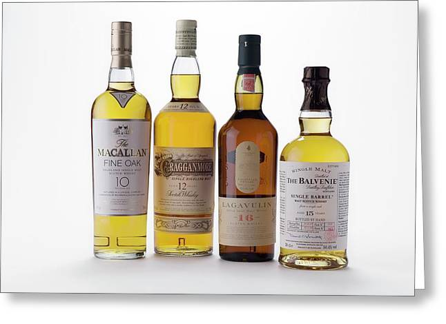 Malt Whiskies Greeting Card by Trevor Clifford Photography