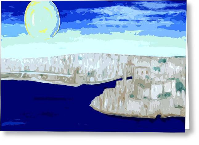 Europe Mixed Media Greeting Cards - Malta Grand Harbour 2 Greeting Card by Patrick J Murphy