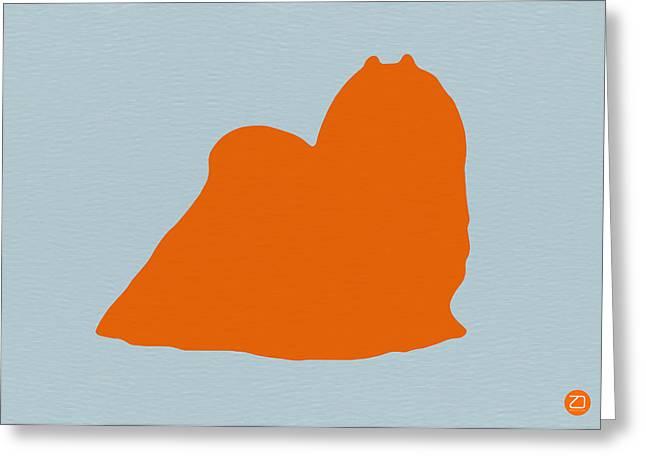 Maltese Orange Greeting Card by Naxart Studio