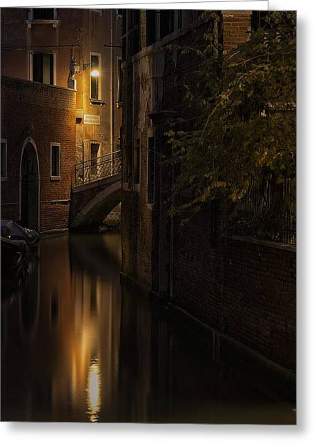 Venetian Canals Greeting Cards - Malvasia Vecchia Greeting Card by Marion Galt