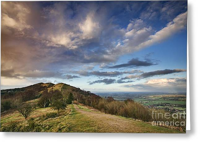 Hereford Greeting Cards - Malvern Hills Greeting Card by Rod McLean