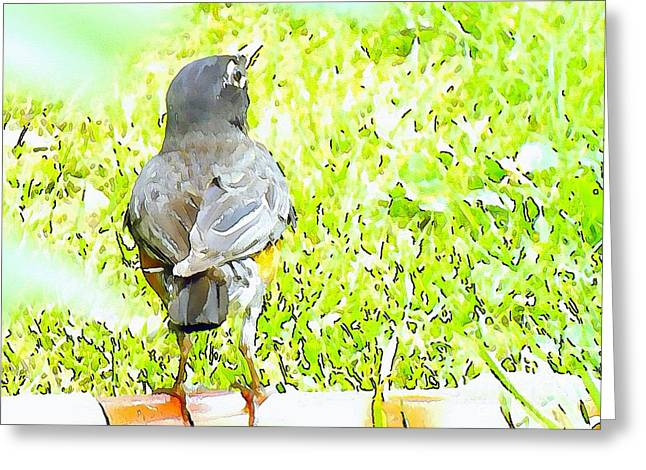 Inspirational Greeting Cards - Mama Bird Greeting Card by Robyn King