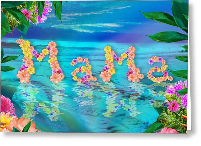 Mama Ocean Greeting Card by Alixandra Mullins