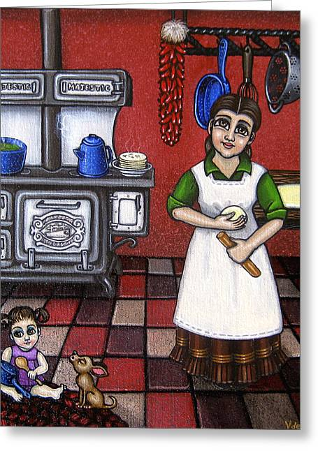 Wood Stove Greeting Cards - Mamacita Greeting Card by Victoria De Almeida