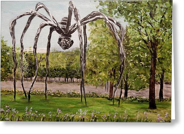 Installation Art Paintings Greeting Cards - Maman Standing guard Greeting Card by Betty-Anne McDonald