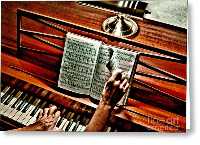 Momma's Hymnal Greeting Card by Robert Frederick