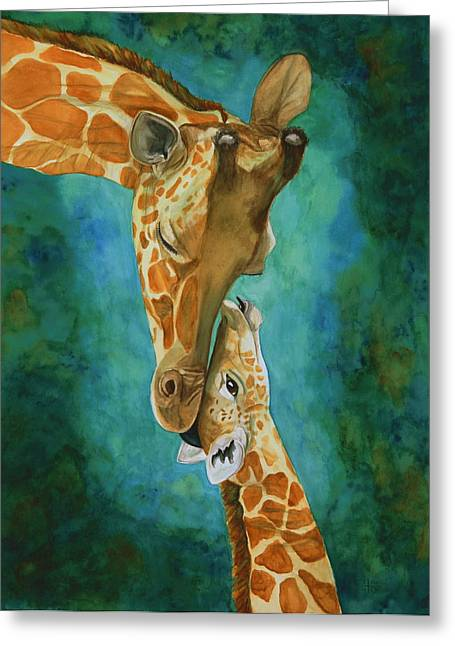 Mama's Love Greeting Card by Laurie Henry