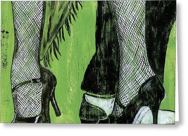 Fishnets Greeting Cards - Mambo Greeting Card by Debbie DeWitt