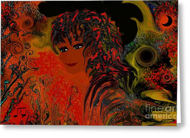 Digital Art Greeting Cards - Mambo The Girl From Rio De Janiero Greeting Card by Sherri  Of Palm Springs