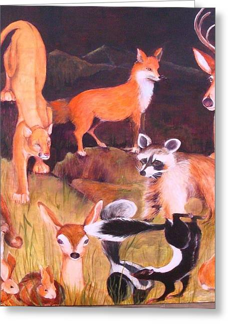 Marin County Greeting Cards - Mammals of Marin  Where Will We Go Greeting Card by Georgia Annwell