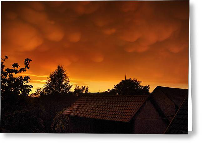Himmel Greeting Cards - Mammas in the sunset hours Greeting Card by Philippe Meisburger