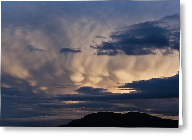 Turbulent Skies Greeting Cards - Mammatus clouds Greeting Card by Science Photo Library