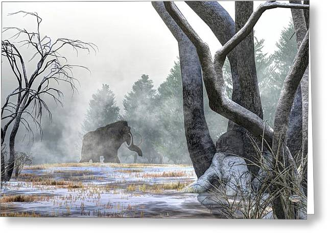 Manny Greeting Cards - Mammoth in the Distance Greeting Card by Daniel Eskridge