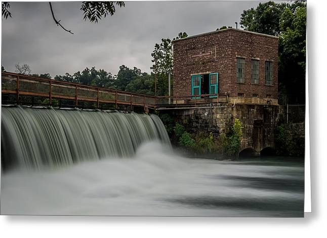 Water Scape Greeting Cards - Mammoth Spring Dam Greeting Card by Paul Freidlund