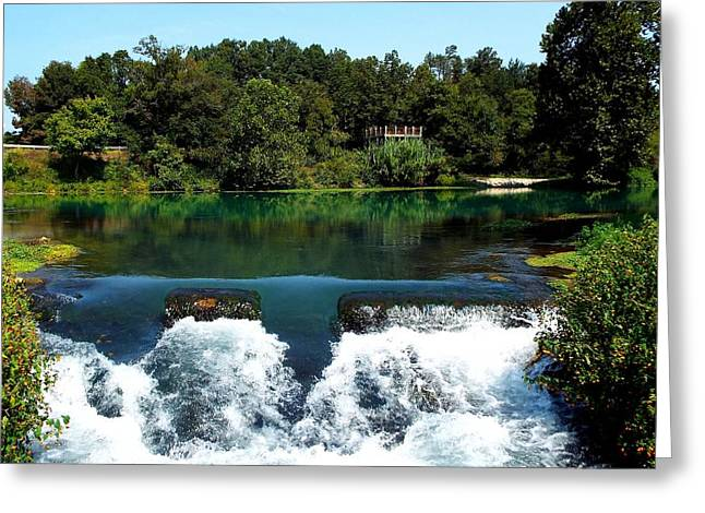 Will Power Greeting Cards - Mammoth Springs Greeting Card by Cindy Croal