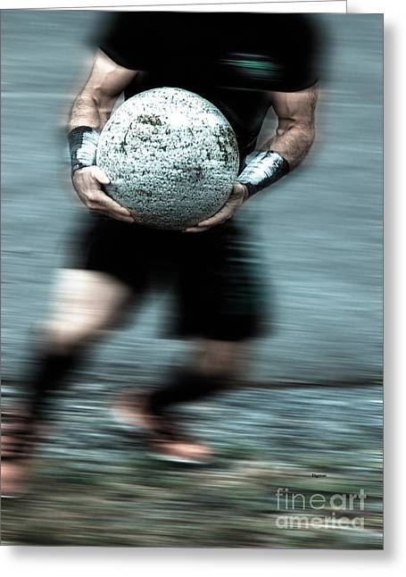 Athletic Photo Greeting Cards - Man Ball  Greeting Card by Steven  Digman