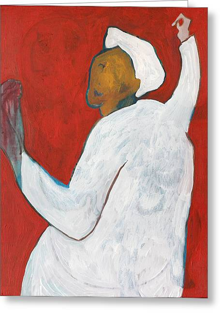 Expressionist Greeting Cards - Man Being Attacked Greeting Card by Anon Artist
