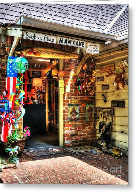 Near Nashville Greeting Cards - Man Cave Greeting Card by Mel Steinhauer