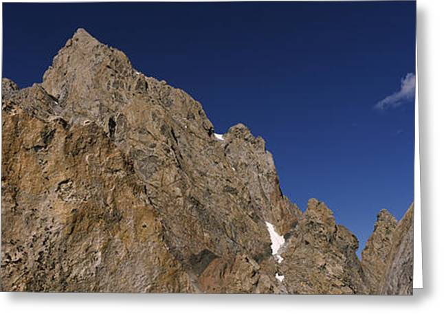 Extreme Sport Greeting Cards - Man Climbing Up A Mountain, Grand Greeting Card by Panoramic Images