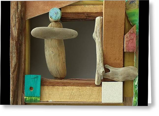 Clever Mixed Media Greeting Cards - Man Drift SOLD Greeting Card by Sylvia Greer