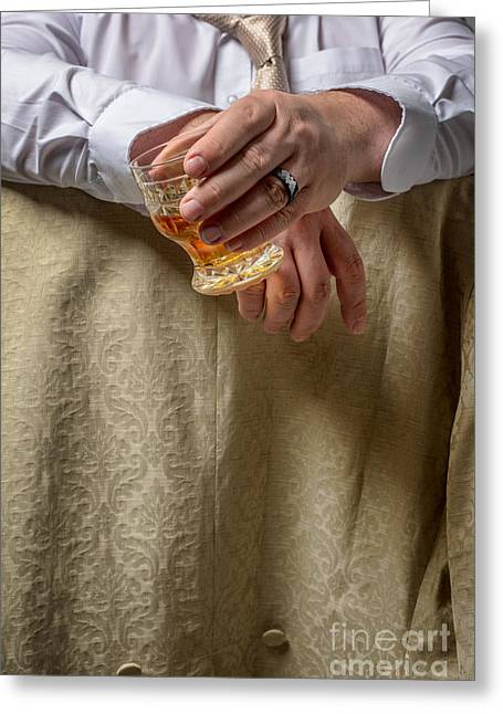Problem Greeting Cards - Man Drinking Spirits Greeting Card by Amanda And Christopher Elwell