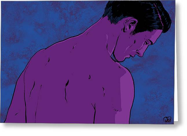 Naked Men Greeting Cards - Man Greeting Card by Giuseppe Cristiano