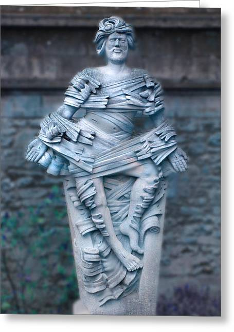 Sculptures Digital Greeting Cards - Man in Blue Greeting Card by Mike McGlothlen