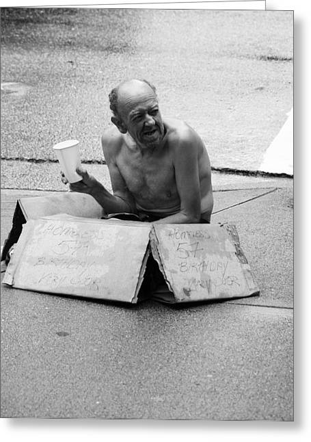 Freelance Photographer Photographs Greeting Cards - Man In Box Greeting Card by Jerry Cordeiro