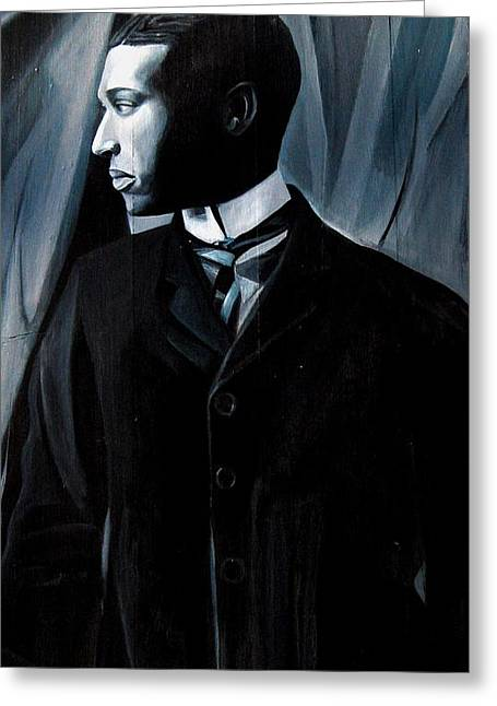 African-americans Sculptures Greeting Cards - Man in Suit and Tie Greeting Card by Joyce Owens