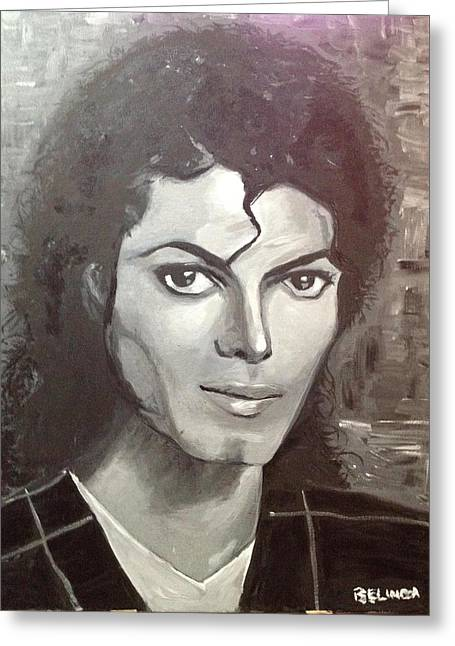 Mj Greeting Cards - Man in the Mirror Greeting Card by Belinda Low