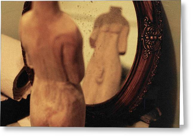 Man in the Mirror Greeting Card by David  Cardona