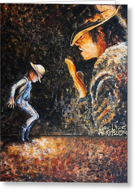 Michael Jackson Greeting Cards - Man In The Mirror Greeting Card by Nik Helbig