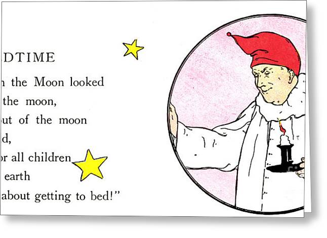 MAN IN THE MOON Greeting Card by Granger