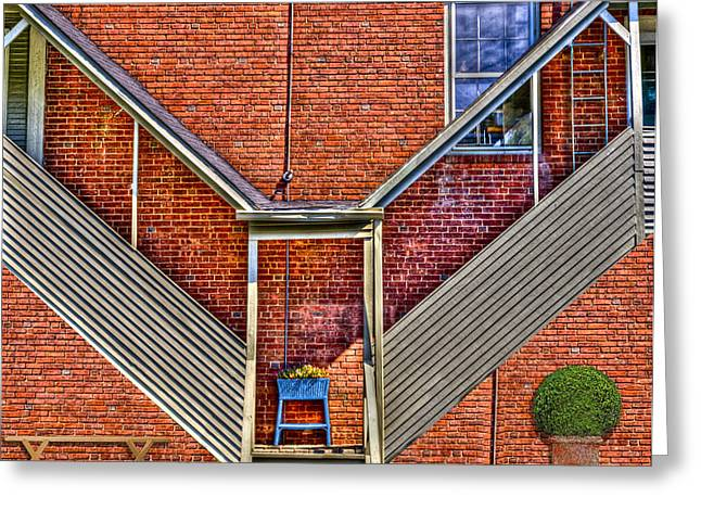 Covered Porch Greeting Cards - Man in The Window Greeting Card by Paul Wear
