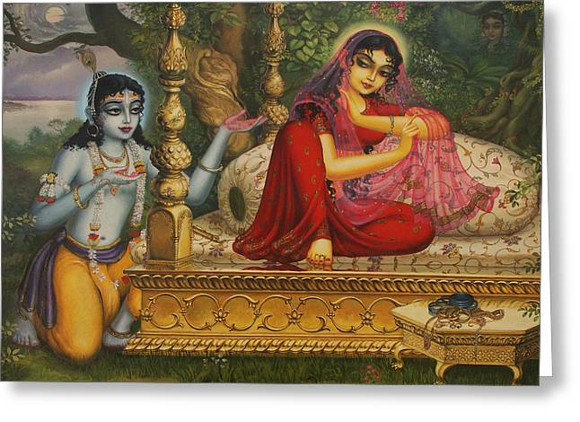 Hinduism Greeting Cards - Man Lila Greeting Card by Vrindavan Das