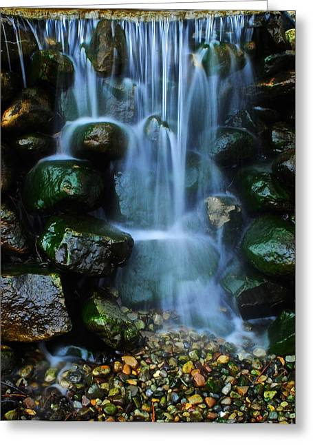 Water Flowing Greeting Cards - Man Made Falls Greeting Card by Frozen in Time Fine Art Photography