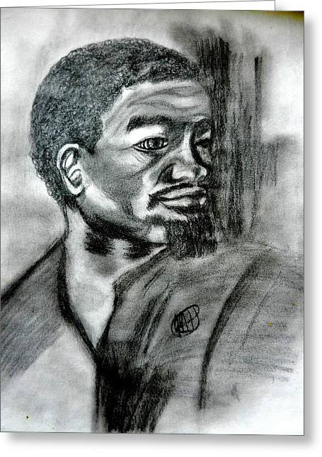 Negro Drawings Greeting Cards - Man Of Dignity  Greeting Card by Jo-Ann Hayden