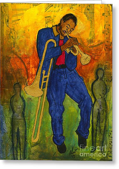 Survivor Art Greeting Cards - Man of Many Talents Greeting Card by Angela L Walker