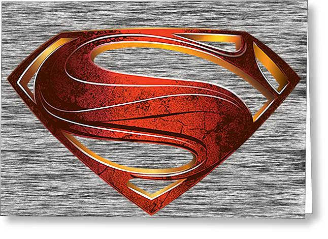 Superman Greeting Cards - Man of Steel Superman Greeting Card by Marvin Blaine