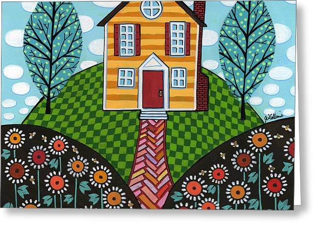 Best Sellers -  - Quaker Paintings Greeting Cards - Man of the House Greeting Card by Jay Winter Collins