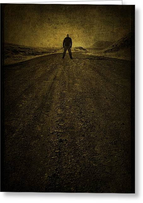 Road Travel Greeting Cards - Man on A Mission Greeting Card by Evelina Kremsdorf