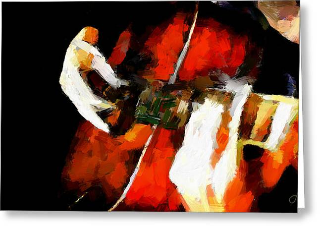 Vincent Dinovici Greeting Cards - Man playing a guitar TNM Greeting Card by Vincent DiNovici