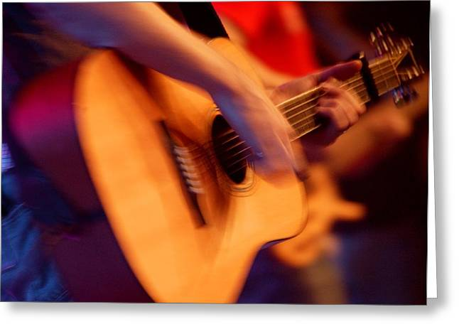 Glorify Greeting Cards - Man Playing Guitar Greeting Card by Con Tanasiuk