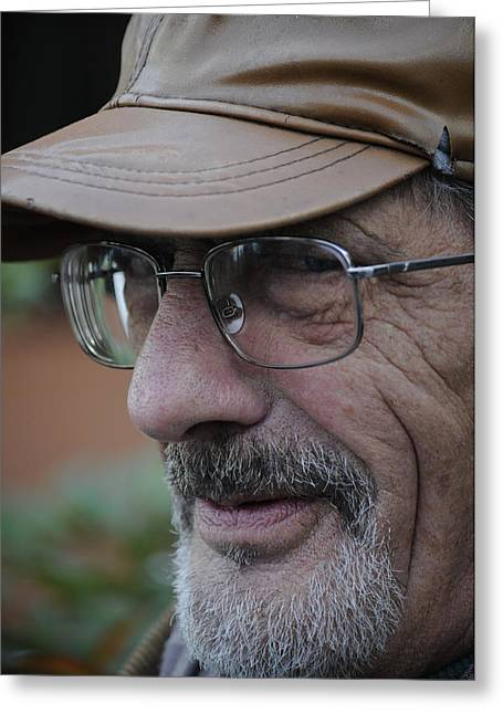 Old Man With Hat Greeting Cards - Teh face and his story Greeting Card by Salvatore Gabrielli