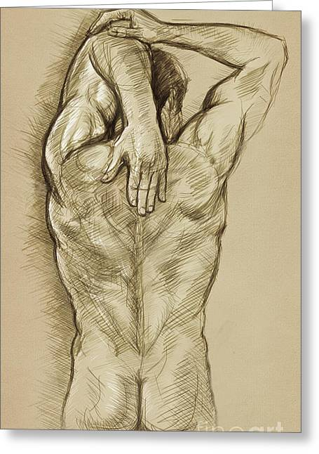 Top Seller Greeting Cards - Man Sketch Greeting Card by Rob Corsetti
