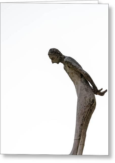 Man Standing In The White. Greeting Card by Slavica Koceva